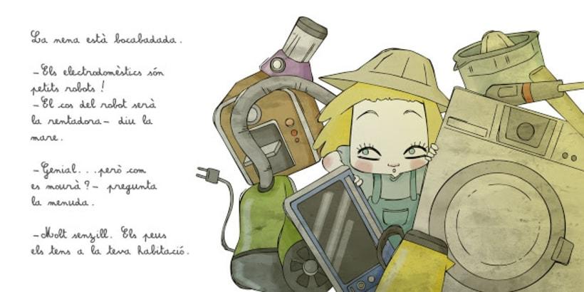 """La petita exploradora . UN ROBOT DINS DE CASA"""" · texto Ⓒ Joan de Déu Prats 5"""