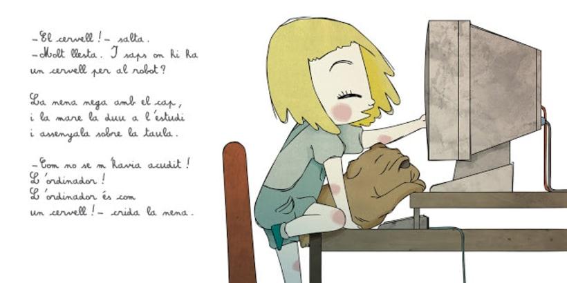 """La petita exploradora . UN ROBOT DINS DE CASA"""" · texto Ⓒ Joan de Déu Prats 7"""