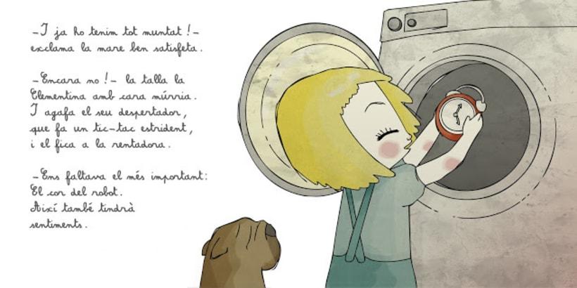 """La petita exploradora . UN ROBOT DINS DE CASA"""" · texto Ⓒ Joan de Déu Prats 10"""