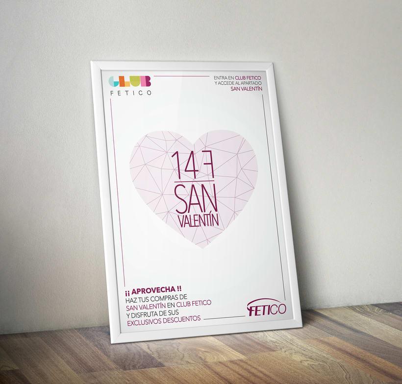 """Diseño gráfico - Cartel publicitario """"San Valentín"""" -1"""