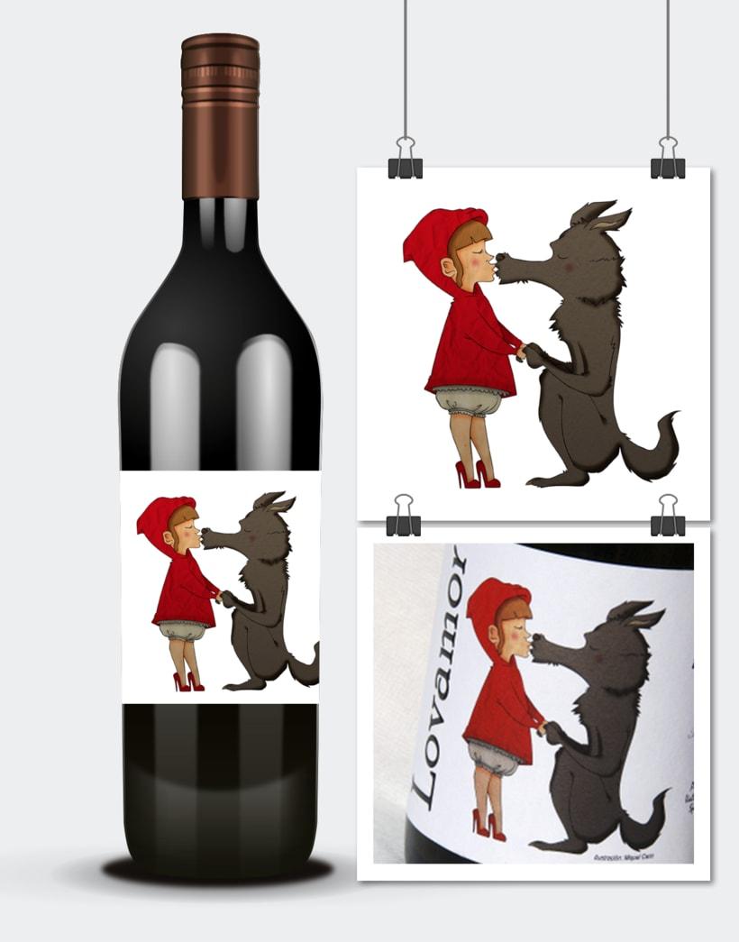 Diseño e ilustraciones etiquetas vino · Alfredo Maestro · Valladolid 4