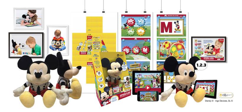 Aprede y Juega con Mickey Mouse + APP · Idea, creación, desarrollo, seguimiento y aprobación (Disney©) del producto, aplicación y packaging -1