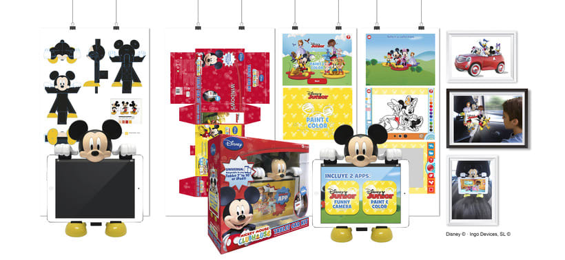 """Tablet Car Kit + APPs"""" · Idea, creación, desarrollo, seguimiento y aprobación (Disney©) del producto, aplicaciónes y packaging -1"""