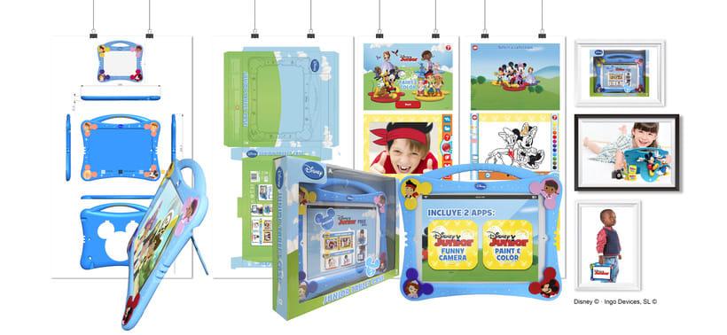 """Junior Tablet Case + APPs"""" · Idea, creación, desarrollo, seguimiento y aprobación (Disney©) del producto, aplicaciónes y packaging -1"""