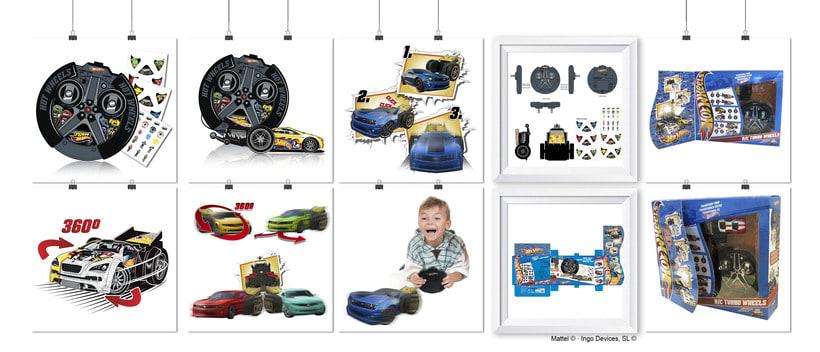 """RC TURBO WHEELS · HOT WHEELS"""" · Idea, creación, desarrollo, seguimiento y aprobación (Mattel©) del producto, aplicación y packaging -1"""