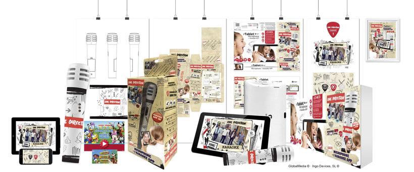"""Línea productos electrónicos ONE DIRECTION"""" · Idea, creación, desarrollo, seguimiento y aprobación (GlobalMedia©) del producto, aplicación y packaging -1"""