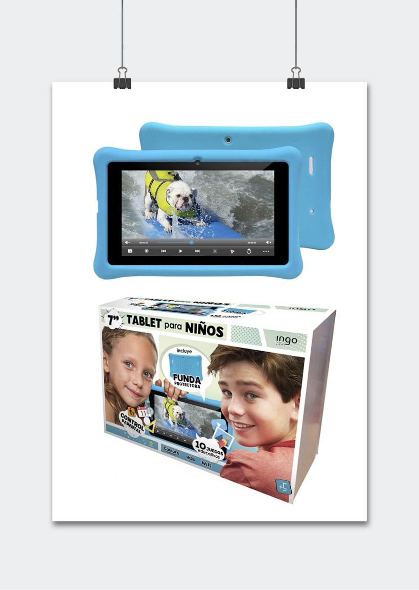 """Línea productos electrónicos INGO DEVICES"""" · Idea, creación, desarrollo, seguimiento y aprobación el producto, aplicación y packaging 2"""