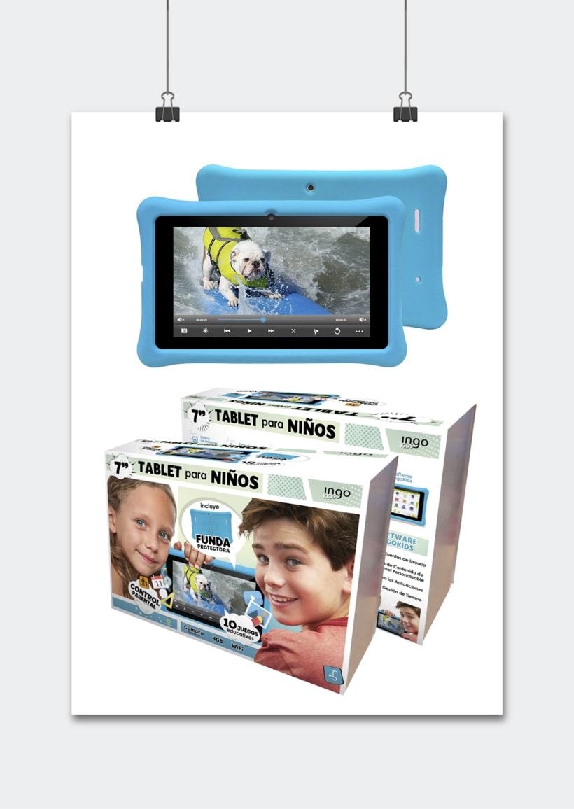 """Línea productos electrónicos INGO DEVICES"""" · Idea, creación, desarrollo, seguimiento y aprobación el producto, aplicación y packaging 3"""