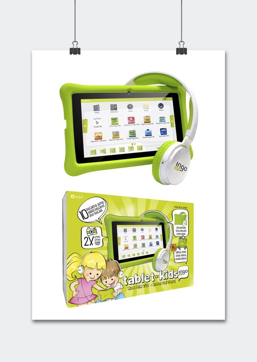 """Línea productos electrónicos INGO DEVICES"""" · Idea, creación, desarrollo, seguimiento y aprobación el producto, aplicación y packaging 4"""