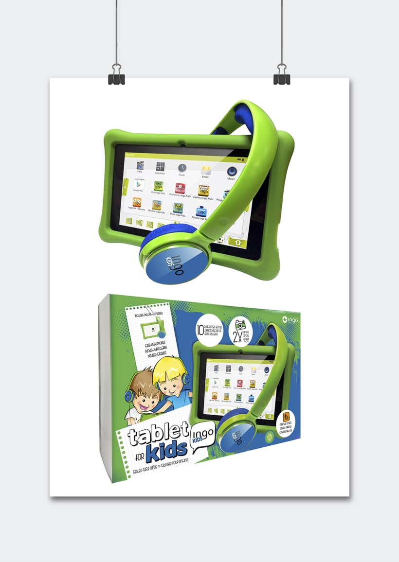"""Línea productos electrónicos INGO DEVICES"""" · Idea, creación, desarrollo, seguimiento y aprobación el producto, aplicación y packaging 5"""