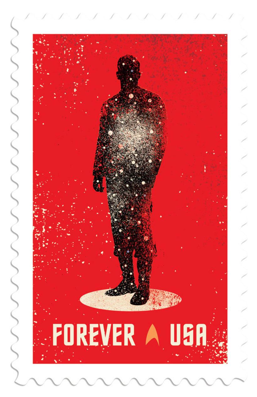 Sellos postales para celebrar el 50 aniversario Star Trek 1