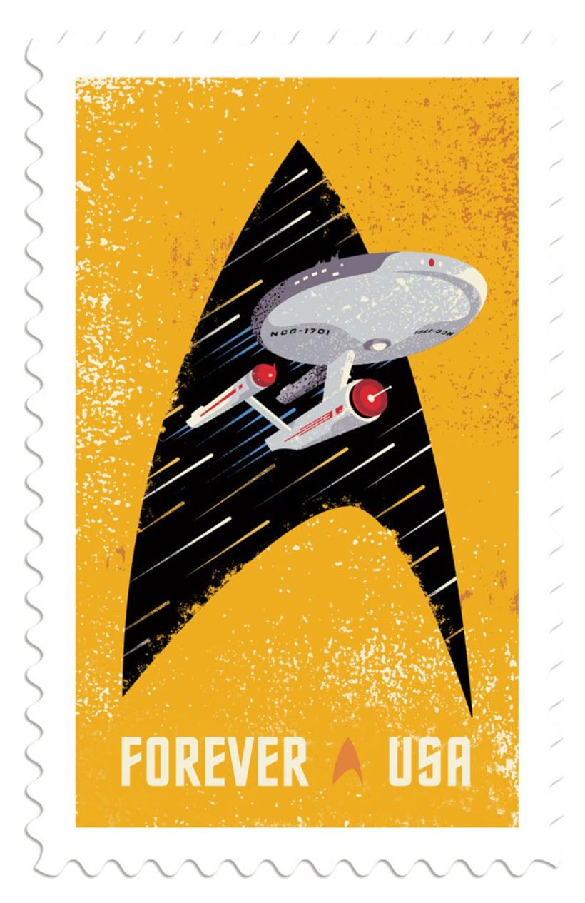 Sellos postales para celebrar el 50 aniversario Star Trek 3