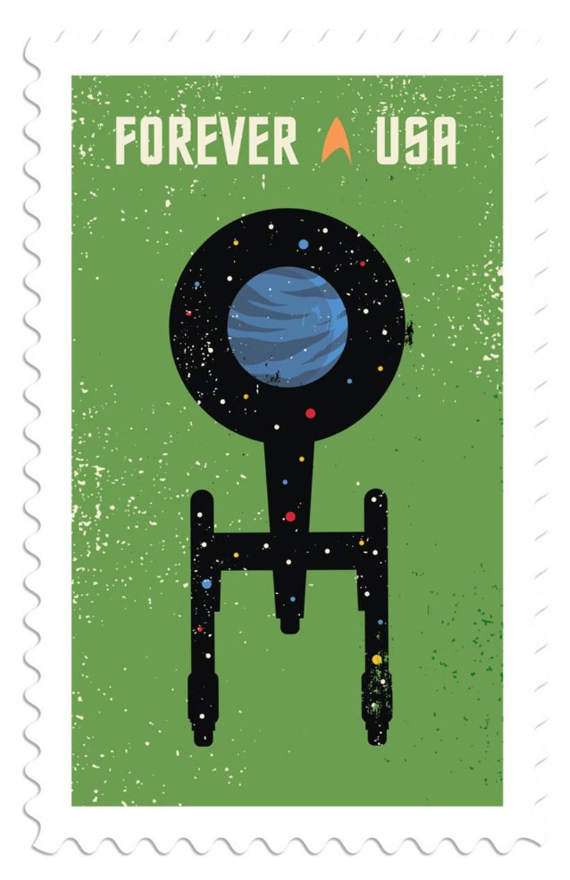 Sellos postales para celebrar el 50 aniversario Star Trek 5