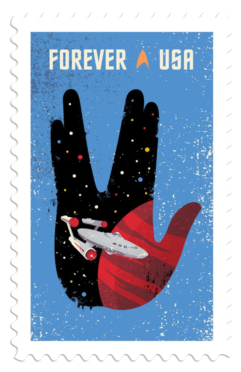Sellos postales para celebrar el 50 aniversario Star Trek 7