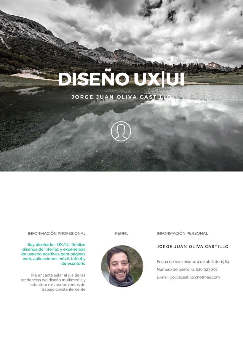 Portafolio Diseño UX | UI INTERFAZ Jorge Juan Oliva Castillo jjolivacastillo Diseñador web y aplicaciones 1