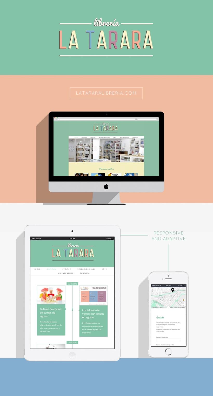 Diseño web Librería La Tarara 0