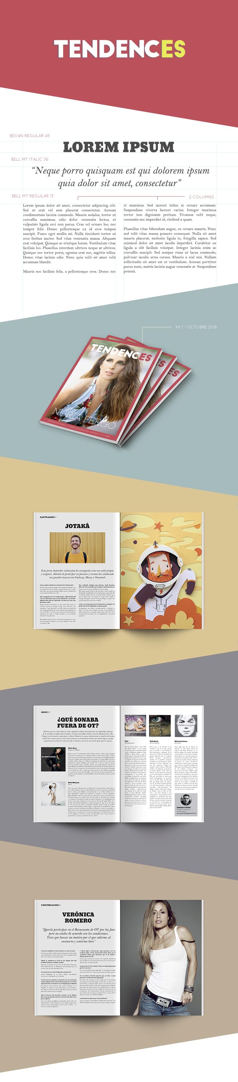 Tendences Magazine - Diseño y maquetación 0