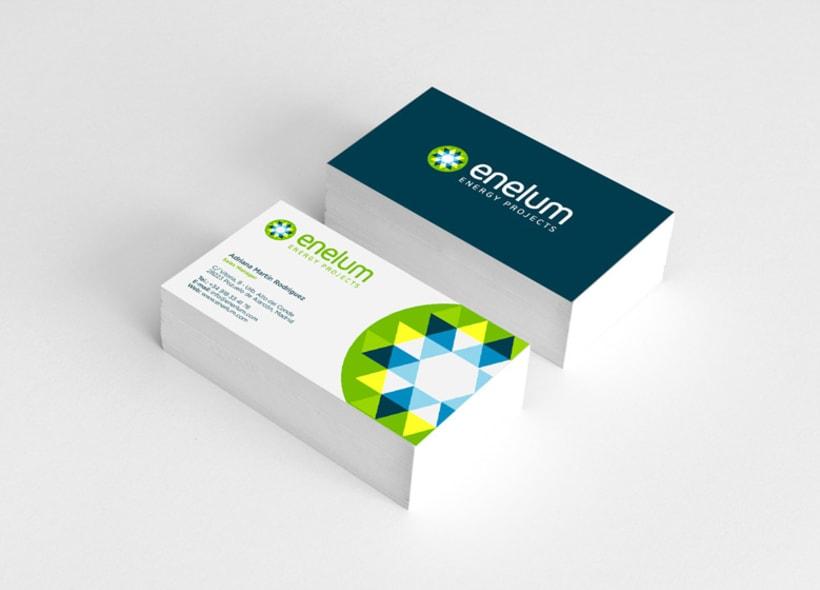 Diseño de identidad corporativa para Enelum, una empresa especializada en el diseño, ejecución y gestión de proyectos de energías renovables (especialmente solar y eólica). 0