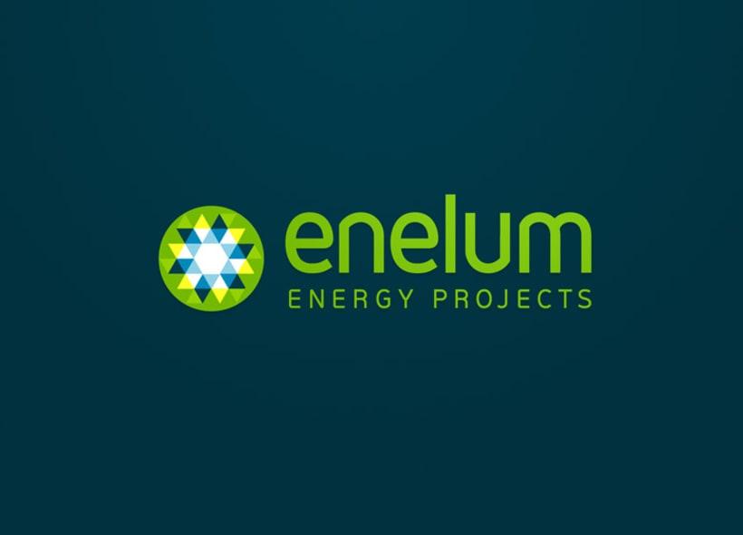 Diseño de identidad corporativa para Enelum, una empresa especializada en el diseño, ejecución y gestión de proyectos de energías renovables (especialmente solar y eólica). 1