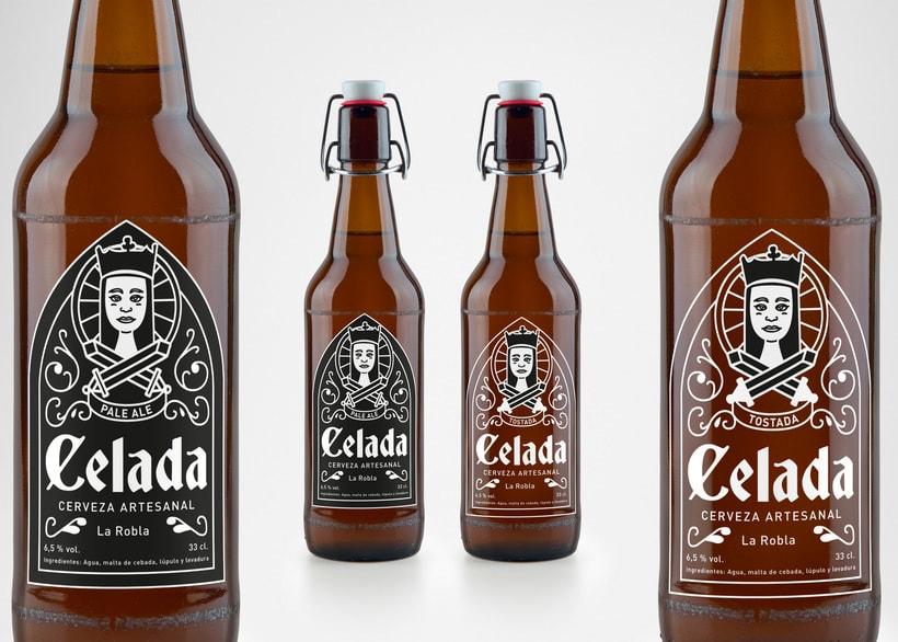 Celada, cerveza artesanal. Rediseño de etiqueta 1