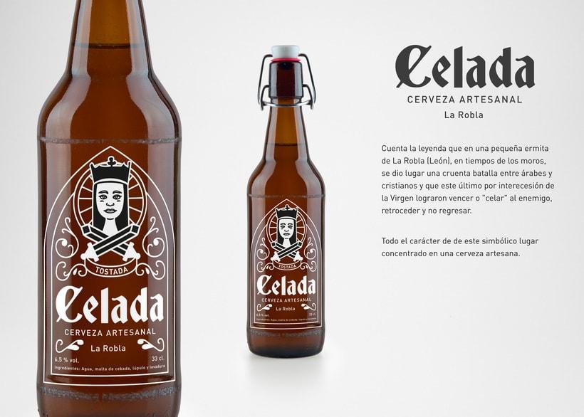 Celada, cerveza artesanal. Rediseño de etiqueta 2