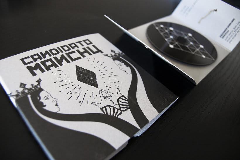 Diseño e ilustración del primer EP de Candidato Manchú 0