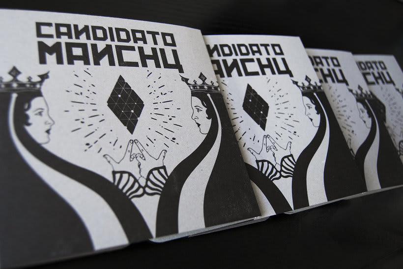 Diseño e ilustración del primer EP de Candidato Manchú 1