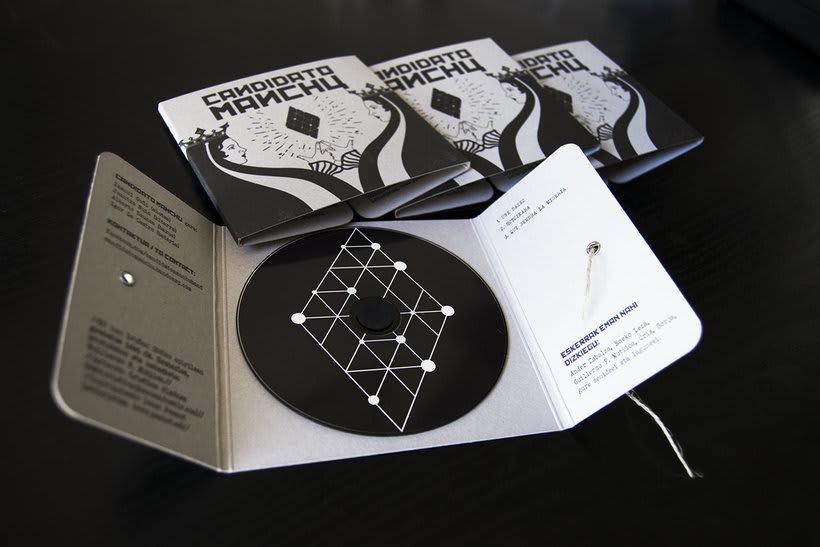 Diseño e ilustración del primer EP de Candidato Manchú 2