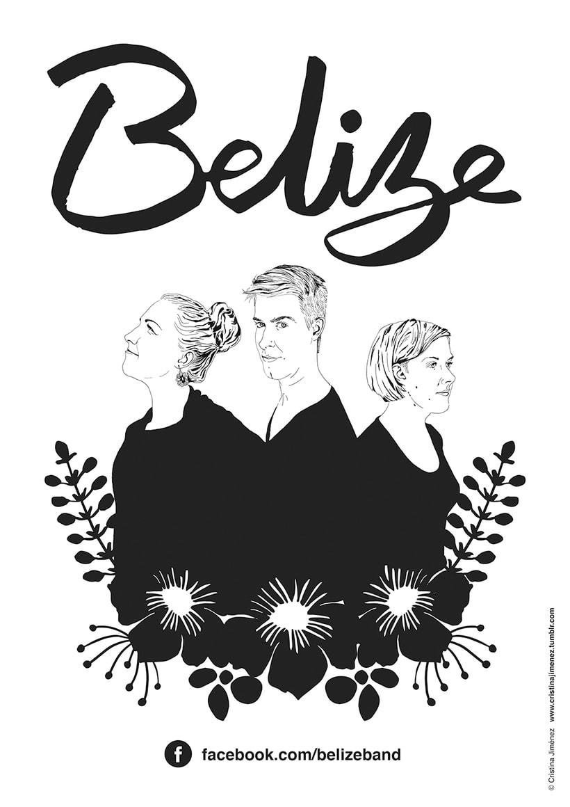 Carteles para la banda finlandesa: BELIZE 1