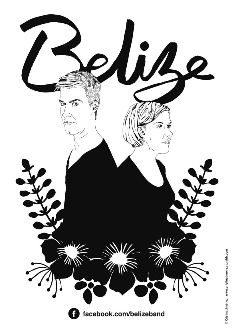 Carteles para la banda finlandesa: BELIZE 0