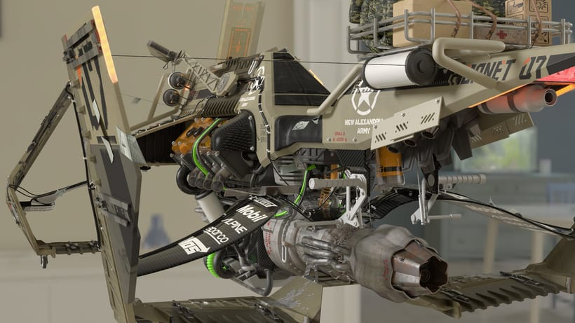 HoverBike: STRIKER - Hornet (Modelaje, iluminación, track e integración) 8