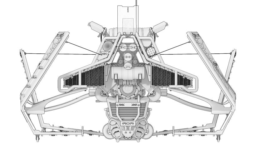 HoverBike: STRIKER - Hornet (Modelaje, iluminación, track e integración) 2