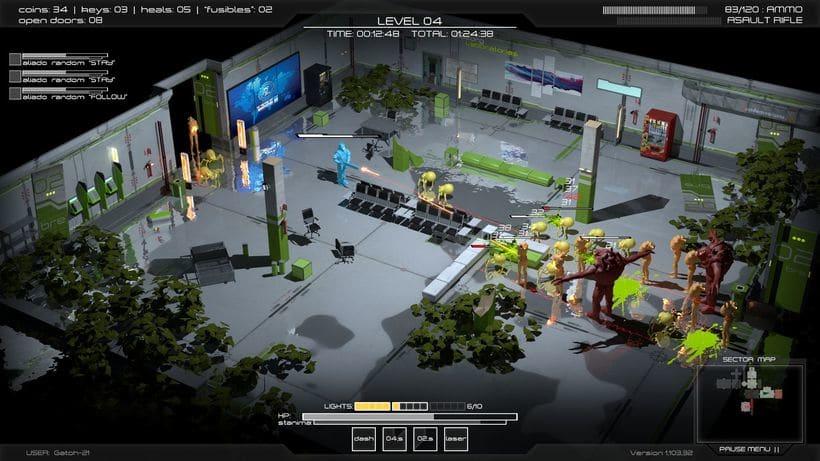 Videojuego - Dungeon shooter cenital 4