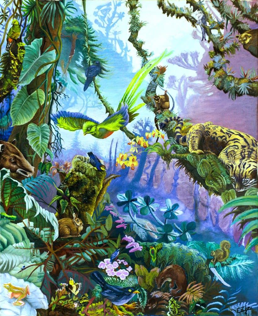 Selva tropical de Guatemala (óleo sobre lienzo) 1
