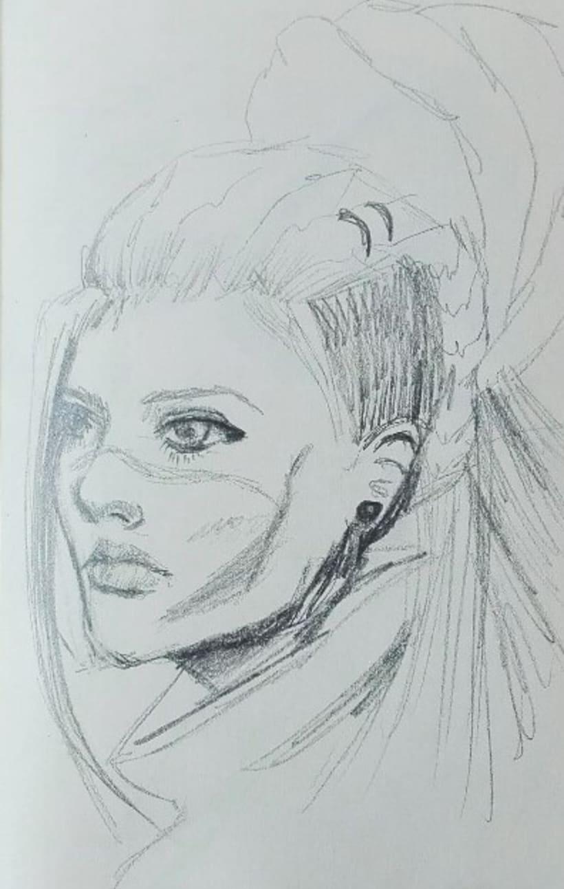 Bocetos rápidos de retratos -1