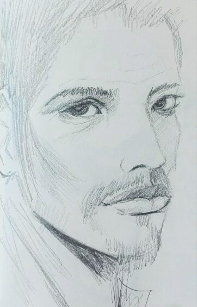 Bocetos rápidos de retratos 1