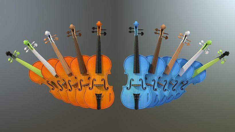 Violines - Modelo 3D 6
