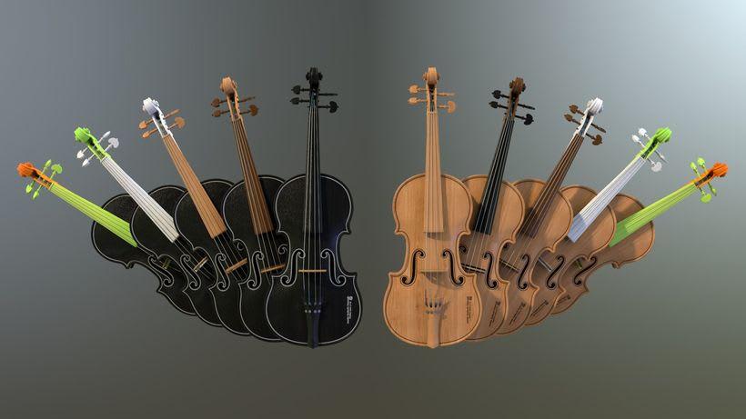 Violines - Modelo 3D 5
