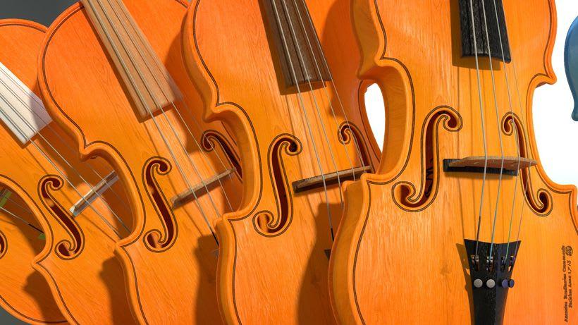 Violines - Modelo 3D 7