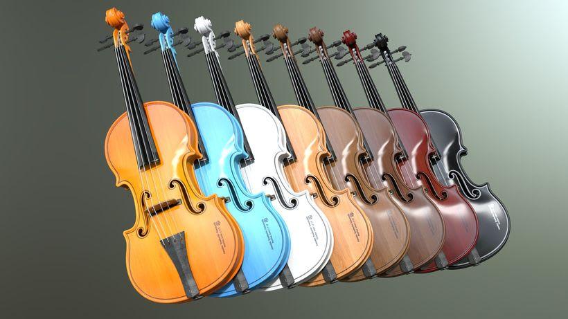 Violines - Modelo 3D 10