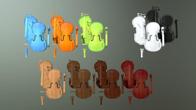 Violines - Modelo 3D 9