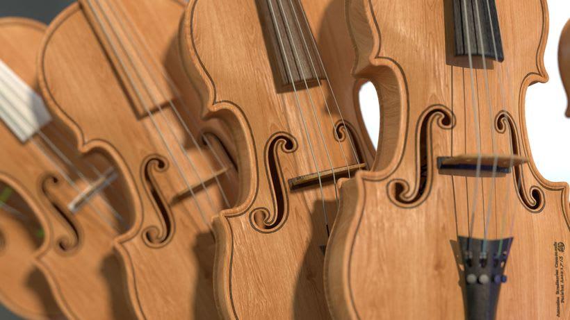 Violines - Modelo 3D 2