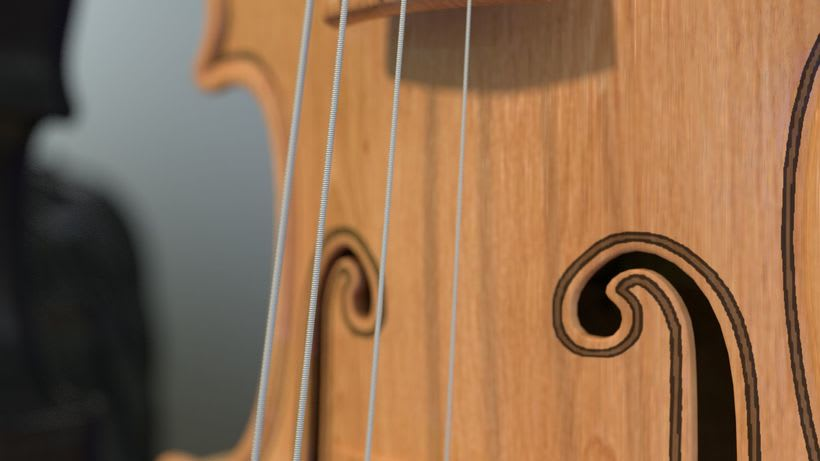 Violines - Modelo 3D 3