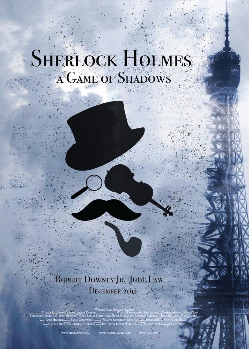 """Rediseño del cartel """"Sherlock Holmes - Juego de Sombras"""" 0"""