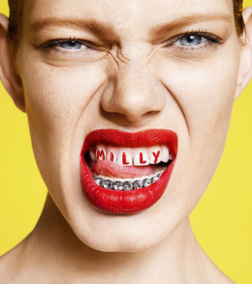 Branding gamberro de Sagmeister & Walsh para MILLY 18