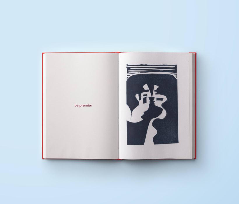 A kiss - Serie de Linograbados 1