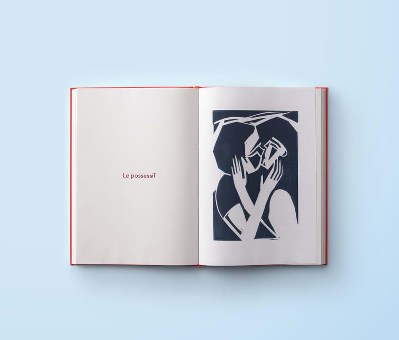 A kiss - Serie de Linograbados 8