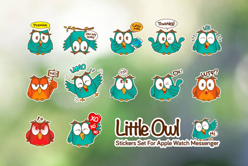 Little Owl Stickers Set 4