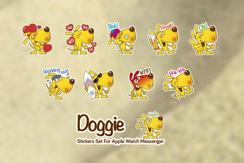 Doggie Stickers Set 4
