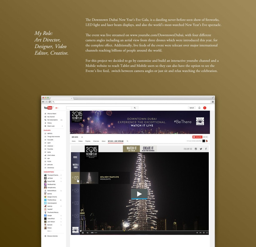 Emmar - Youtube App - Dubai New Year's Eve Gala 1